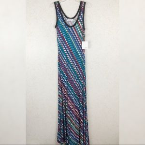 Calvin Klein multicolor sleeveless maxi dress